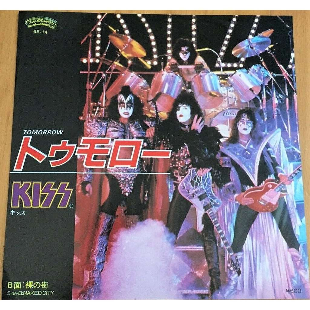 KISS Tomorrow (Japan 1980 original 2-trk 7single unique insert ps)