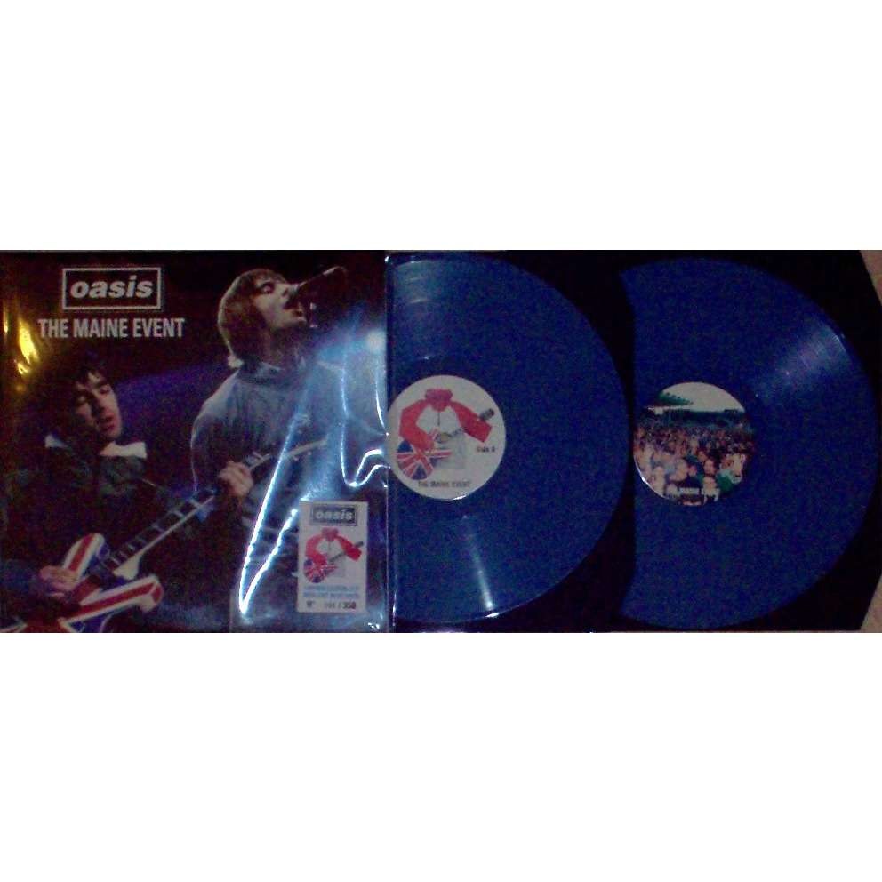 OASIS The Maine Event (Manchester UK Main Roiad 27.04.1996) (Ltd 350 no'd copies 2LP BLU wax gf ps)
