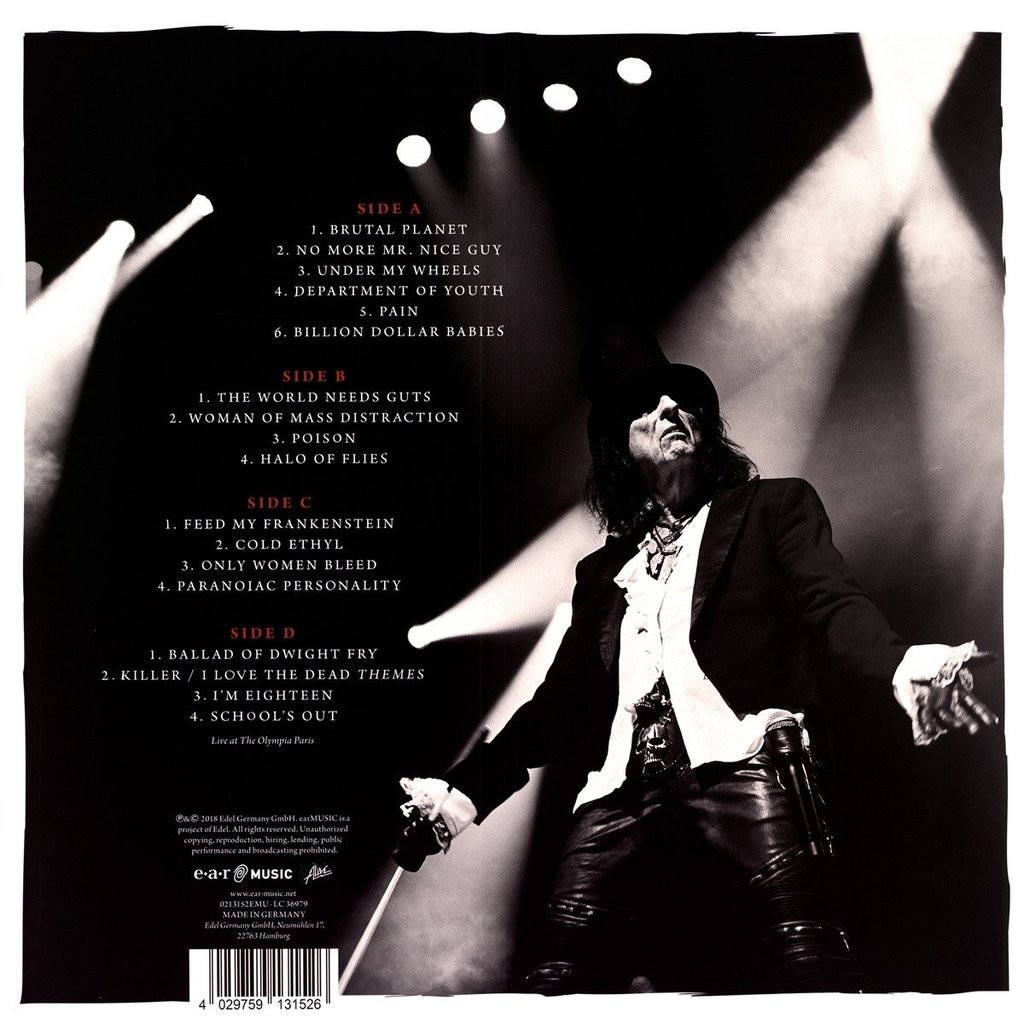 Alice Cooper A Paranormal Evening With Alice Cooper At The Olympia Paris (2xlp) Ltd Edit Coloured Vinyl -E.U