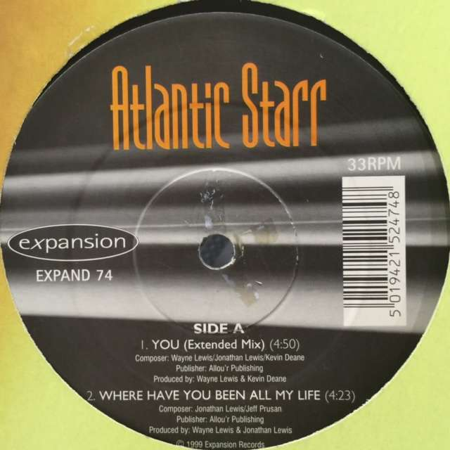 atlantic starr you / where have you been all my life / all because of you / when was the last time