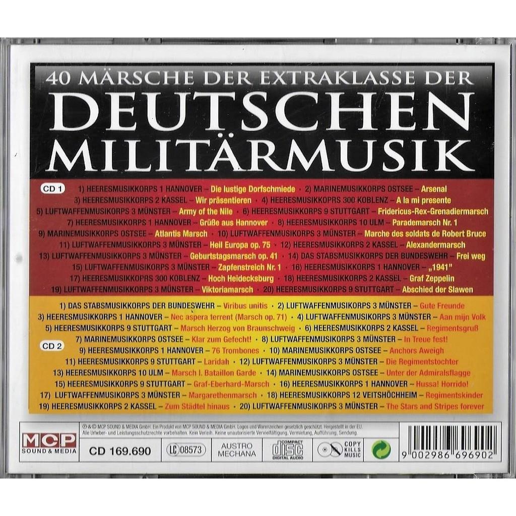 Heeres-, Marine-, Luftwaffen- und Stabsmusikkorps 40 Märsche Der Extraklasse Der Deutschen Militarmusik