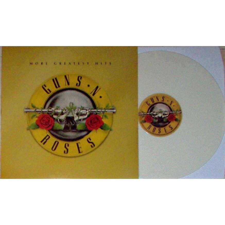 guns n' roses More Greatest Hits (Euro Ltd 8-trk LP WHITE vinyl full ps + poster!!)