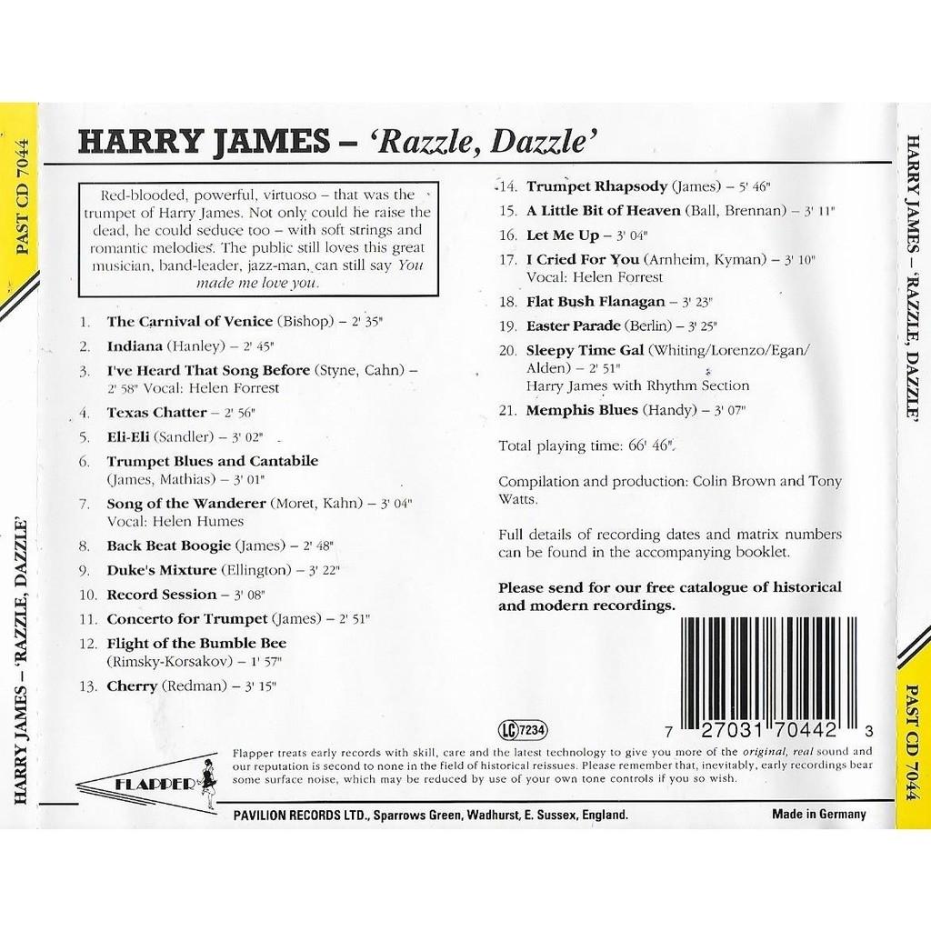 Harry James Razzle Dazzle - The Sweet Trumpet of Harry James