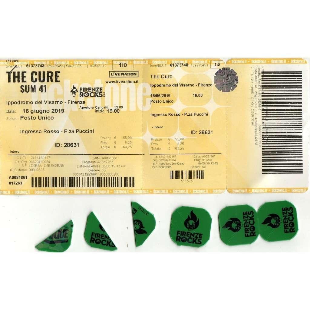 The Cure Firenze Rock 16.06.2019 (Italian 2019 original inused Concert Ticket + 'Firenze Rock' coins!!)