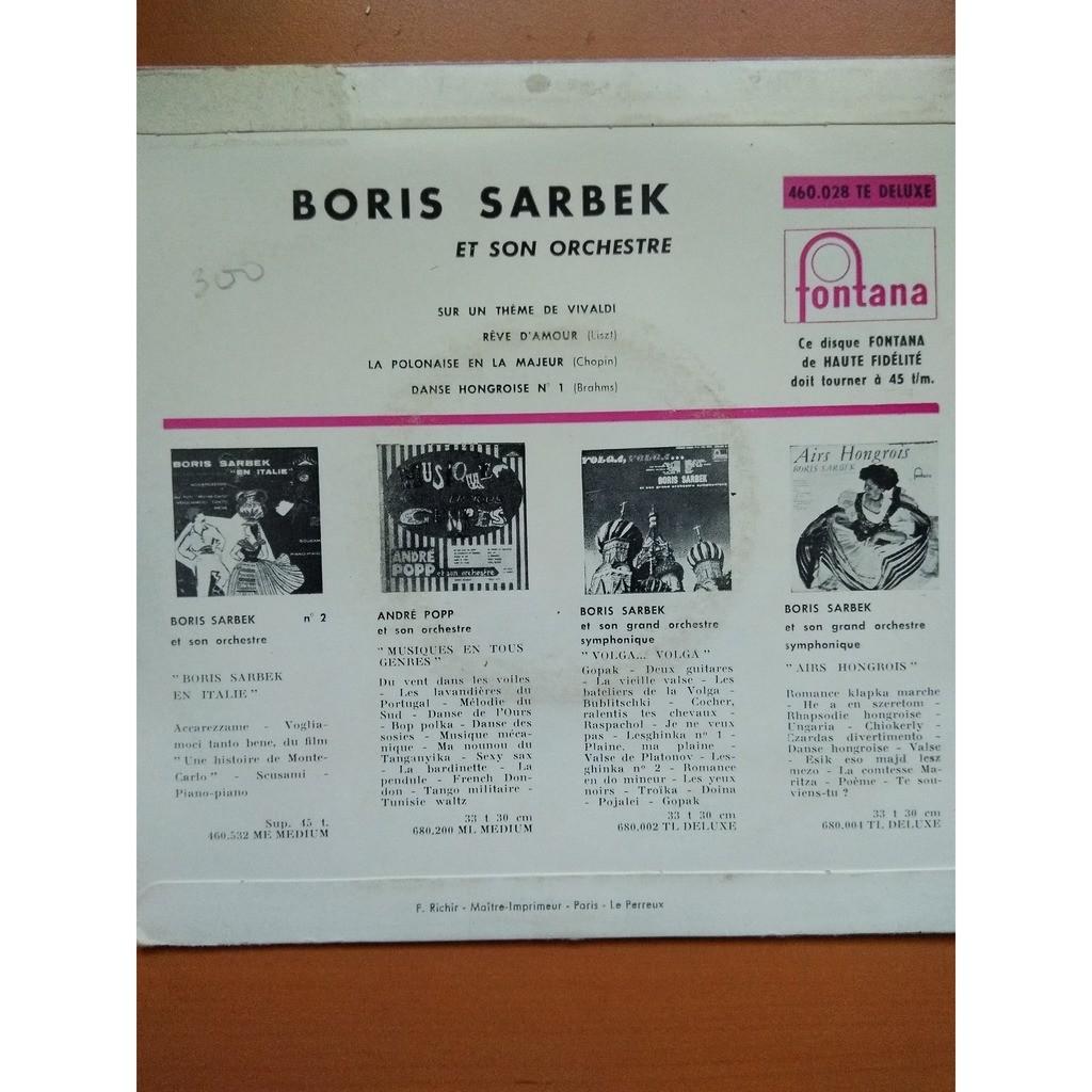 boris sarbek rêves d'amour sur des thèmes de Liszt, Brahms, Vivaldi et Chopin