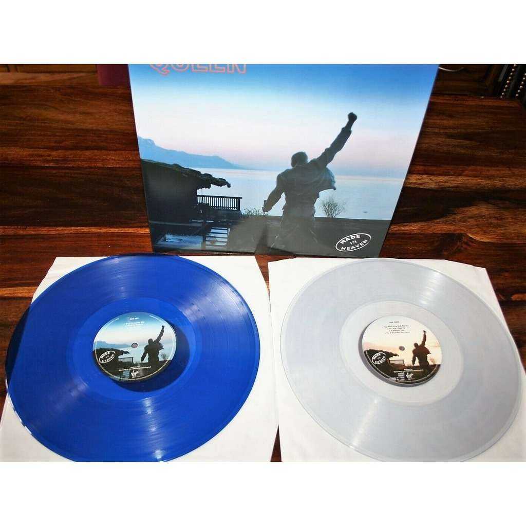 Queen Made in Heaven (UK 2016 Ltd re 12-trk 2LP BLUE & CLEAR vinyl full gf ps+inners & 3 posters!)