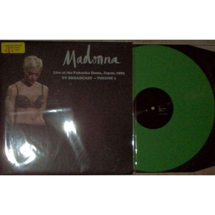 Madonna Live At the Fukuoka Dome Japan 1993 - TV Broadcast - Vol. 1 (Ltd 200 No'd copies LP GREEN wax)