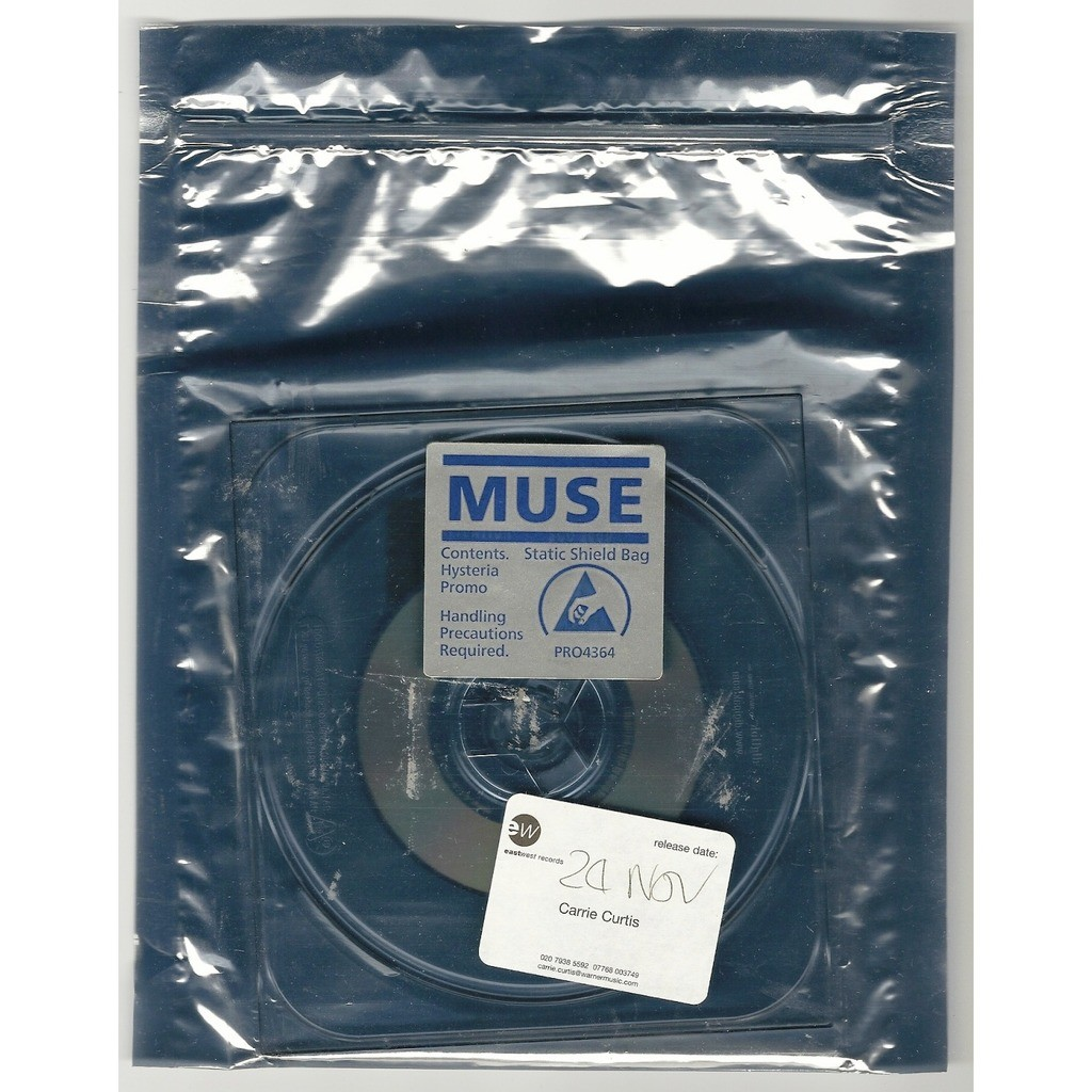 MUSE HYSTERIA - PROMO CD SINGLE