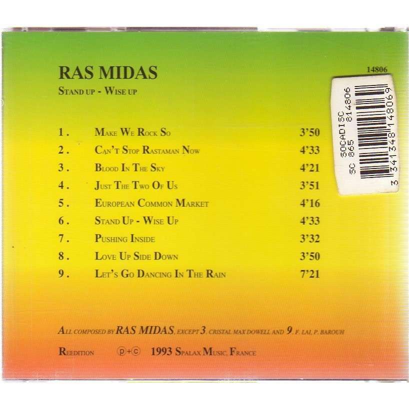 Ras Midas STAND UP WISE UP