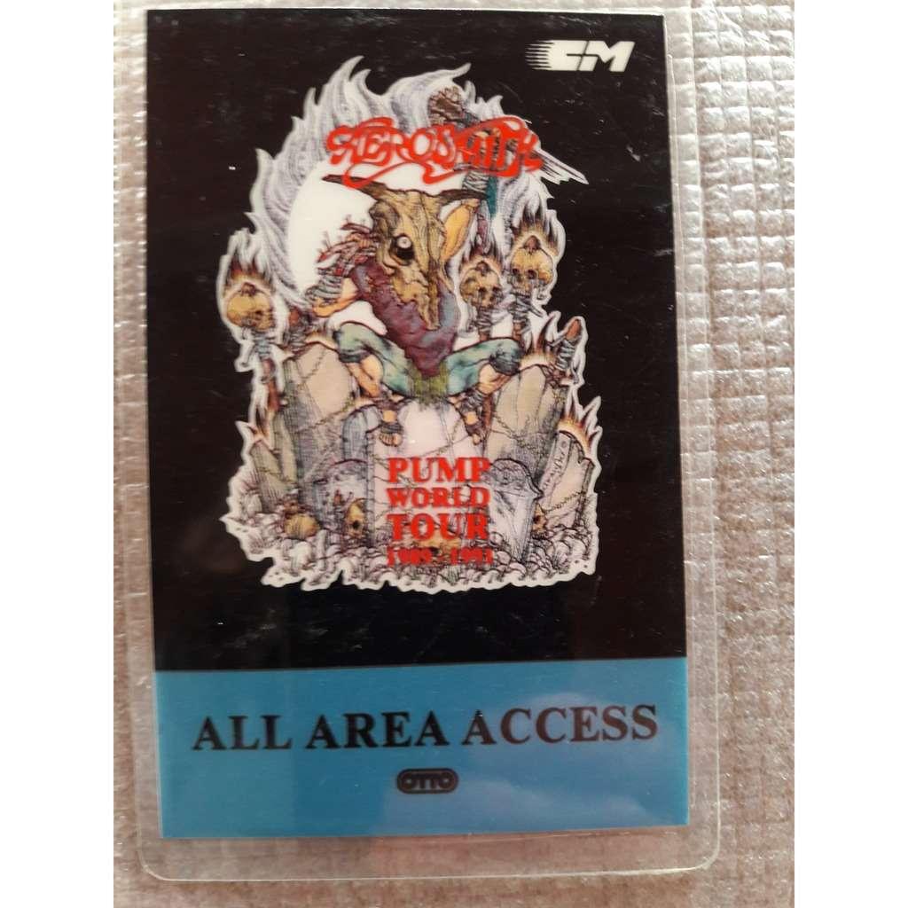 aerosmith Backstage pass Pump World Tour 1889-1991