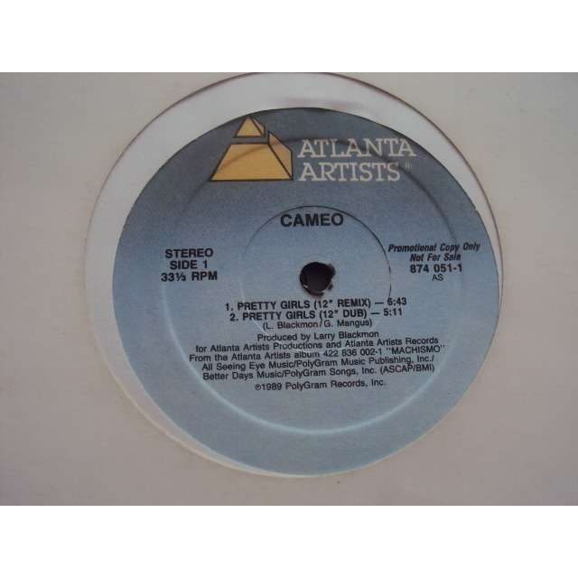 Cameo pretty girls (12 remix / 12 dub / 7 remix / 7 dub) 1989 usa promo copy