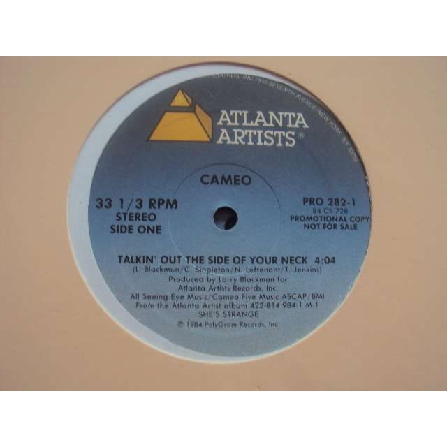 CAMEO TALKIN OUT THE SIDE OF YOUR NECK 1984 USA PROMO COPY