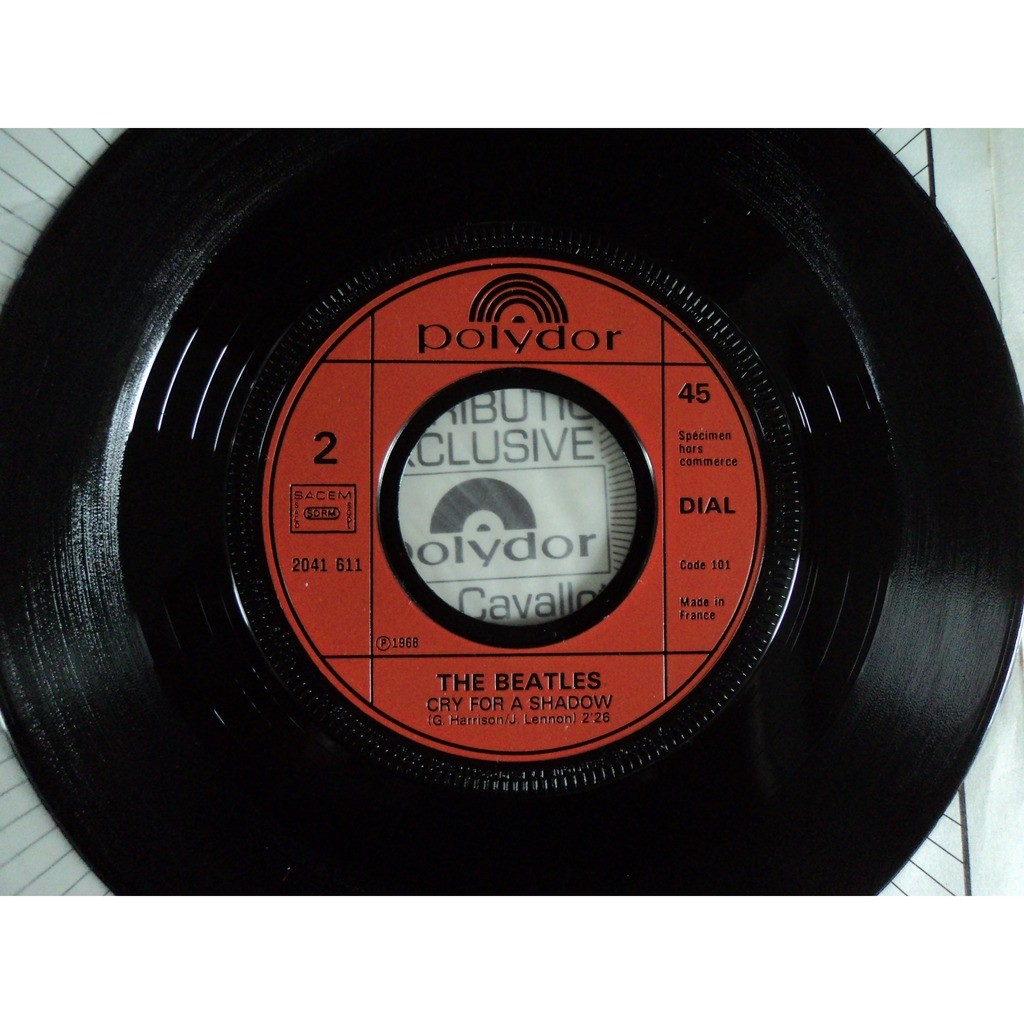 The Beatles Ain't She Sweet/Cry/ For A Shadow (promo copy)