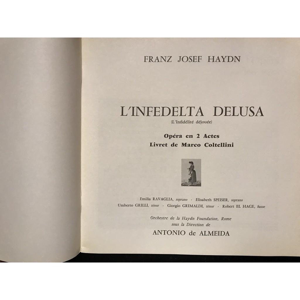 FRANZ JOSEPH HAYDN L'INFEDELTA DELUSA