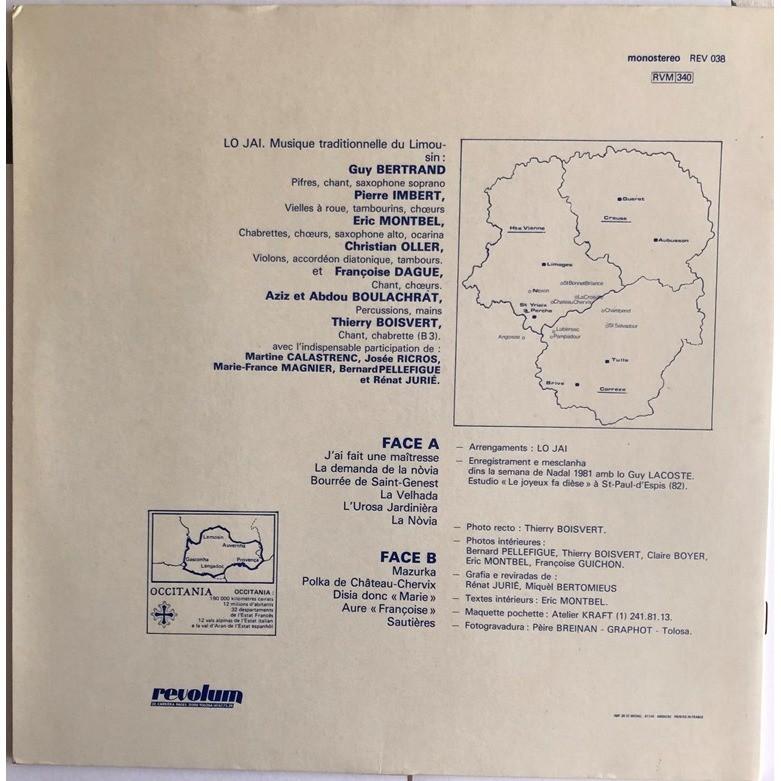 Lo Jai Musiques Traditionnelles Du Limousin