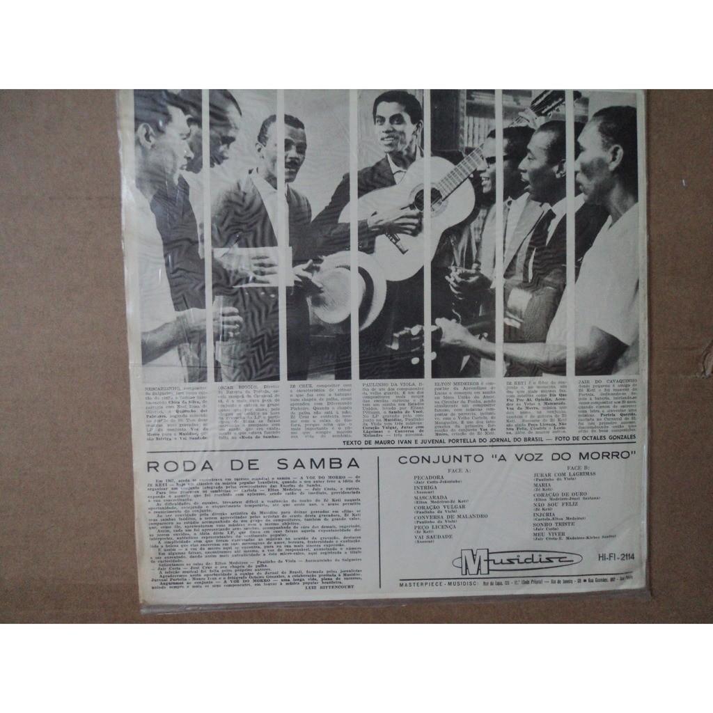 Conjunto A VOZ DO MORRO Roda De Samba (ORIGINAL - BRASIL) + Insert Simca