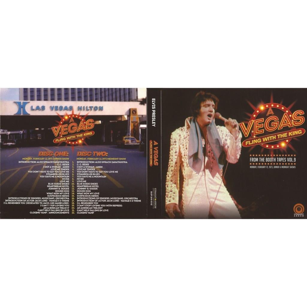 elvis presley 2 cd digipack a vegas fling 12/2/73 las vegas dinner & midnight shows