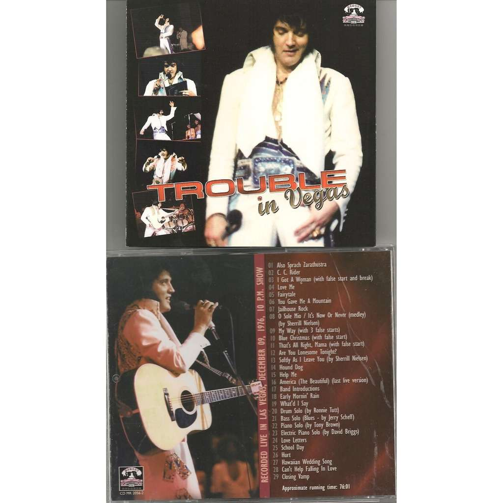 elvis presley 1 cd trouble in vegas 9/12/76 las vegas 10pm show