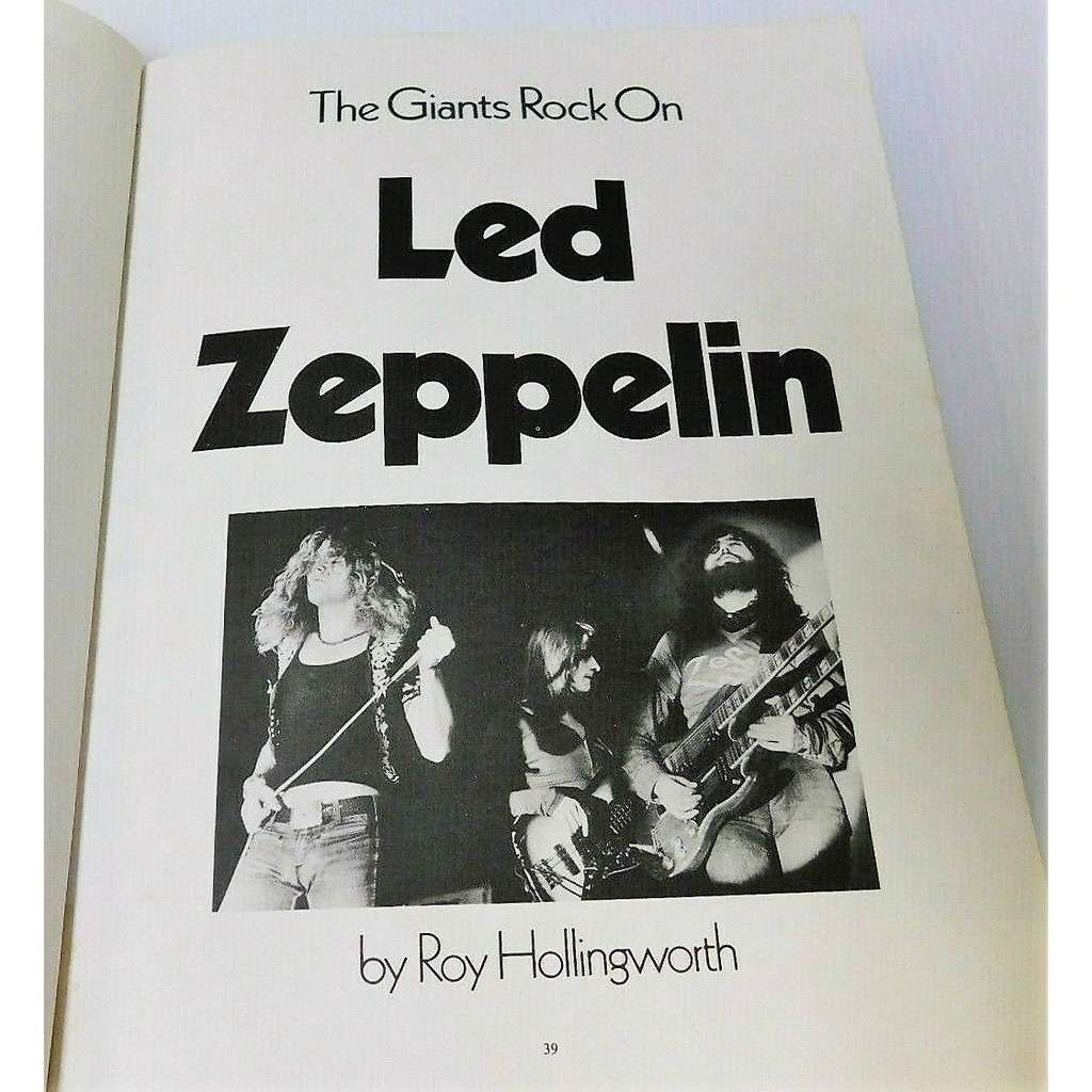 led zeppelin Today's Sound (UK 1974 original 'A Melody Maker ' deluxe photos & text hardcover 130 pag. book!)