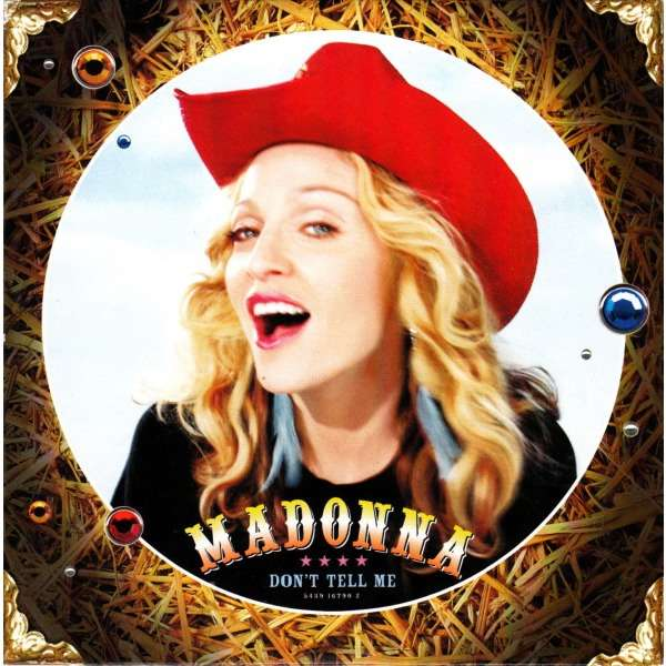 Madonna (CD, Single, Card Sleeve) Don't Tell Me - Cyber raga