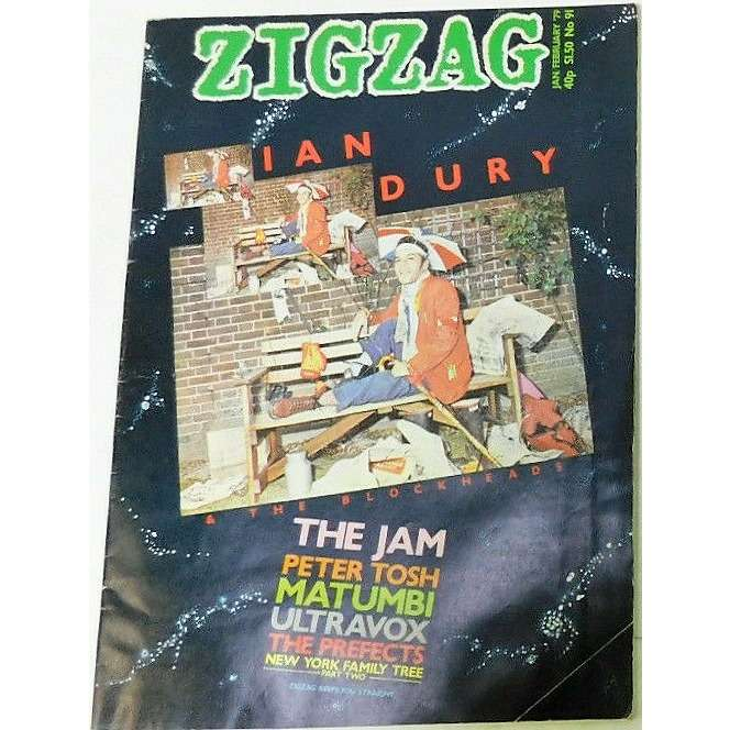 Ian Dury Zig Zag (N.91 Jan/Feb. 1979) (UK 1979 Ian Dury front cover magazine!!)