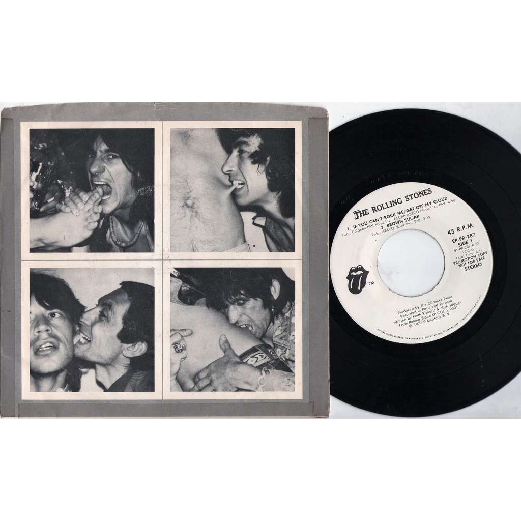 The Rolling Stones If You Can't Rock Me (USA 1973 Ltd 4-trk w/label promo 7ep sampler unique Andy Warhol 's artwork ps