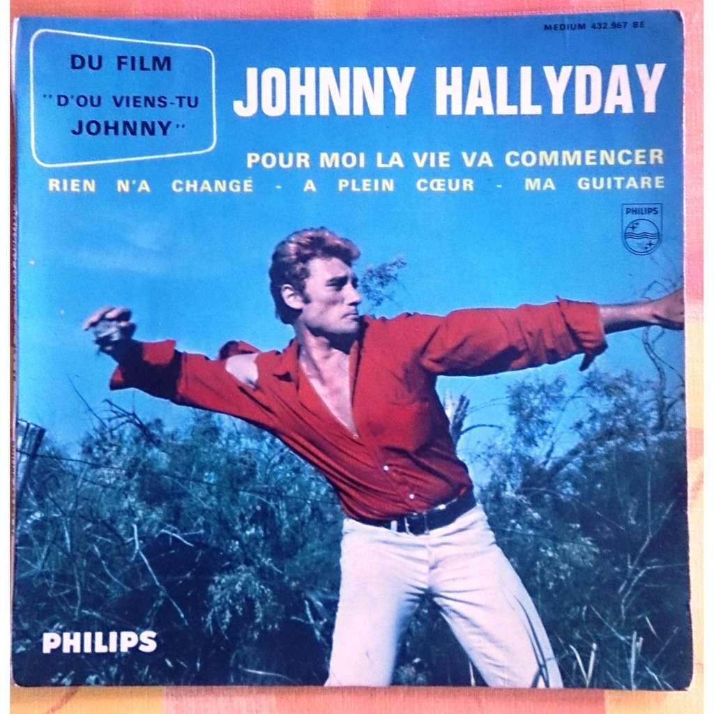 HALLYDAY Johnny Pour moi la vie va commencer