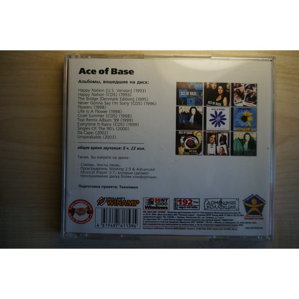 Mp3 collection (12 albums) 1993-2003 by Ace Of Base, CD-ROM with musichaven
