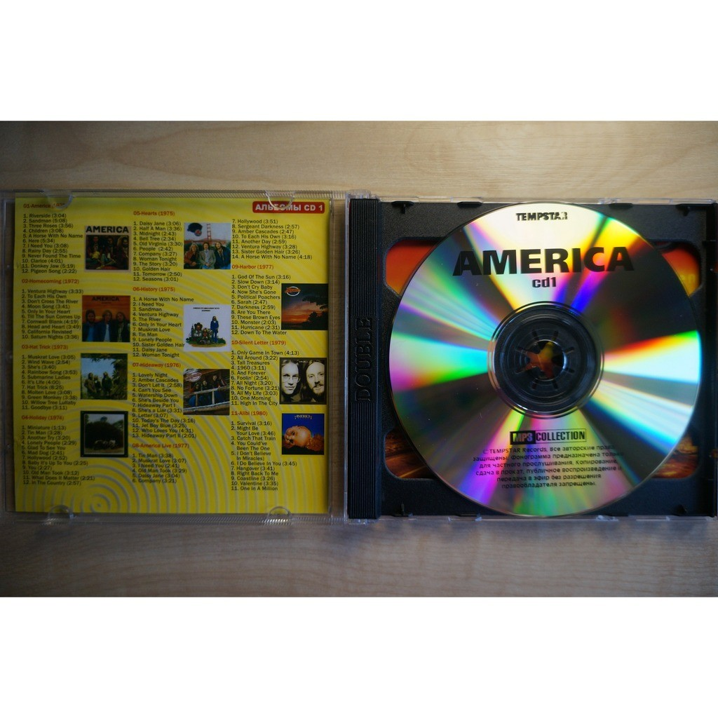 Mp3 collection by America, CD x 2 with musichaven