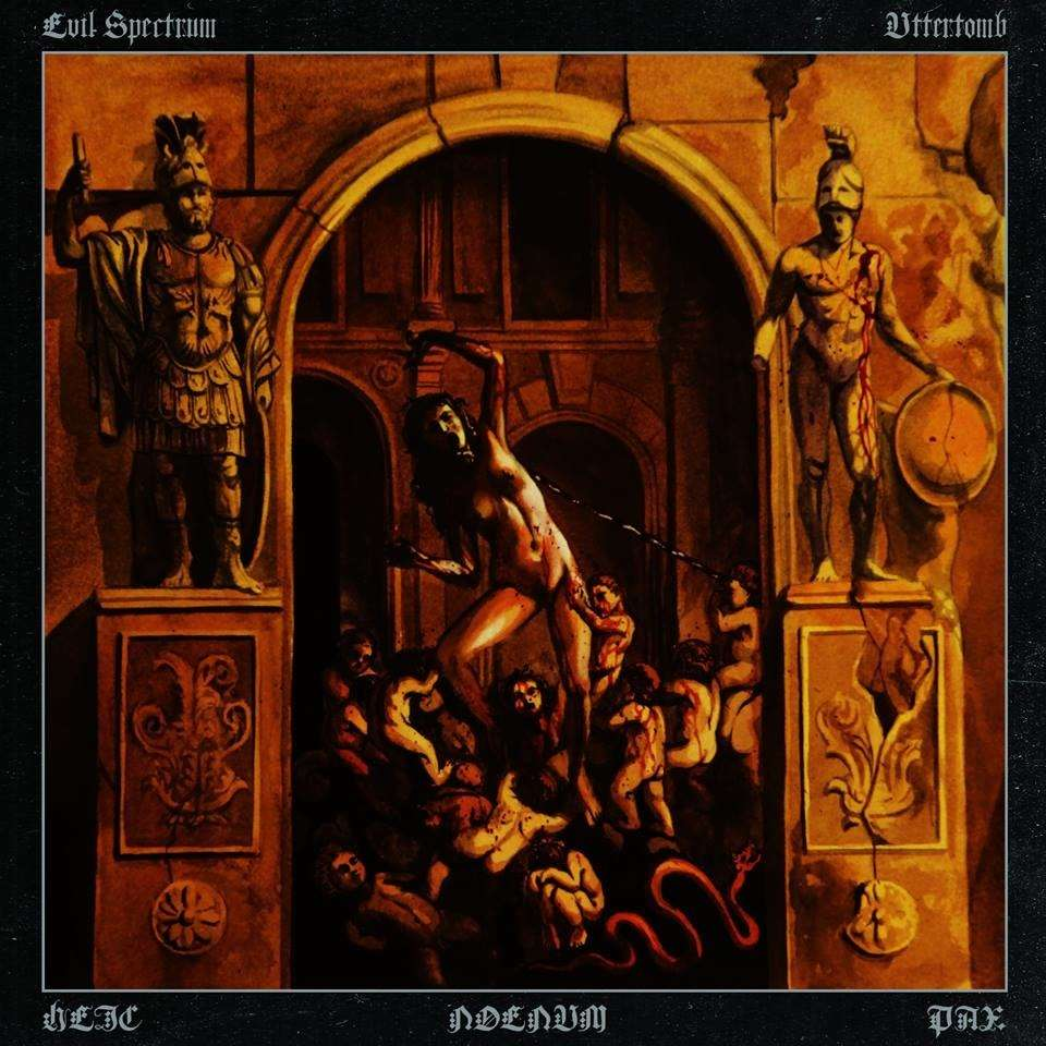 UTTERTOMB / EVIL SPECTRUM Heic Noenum Pax. Orange Vinyl