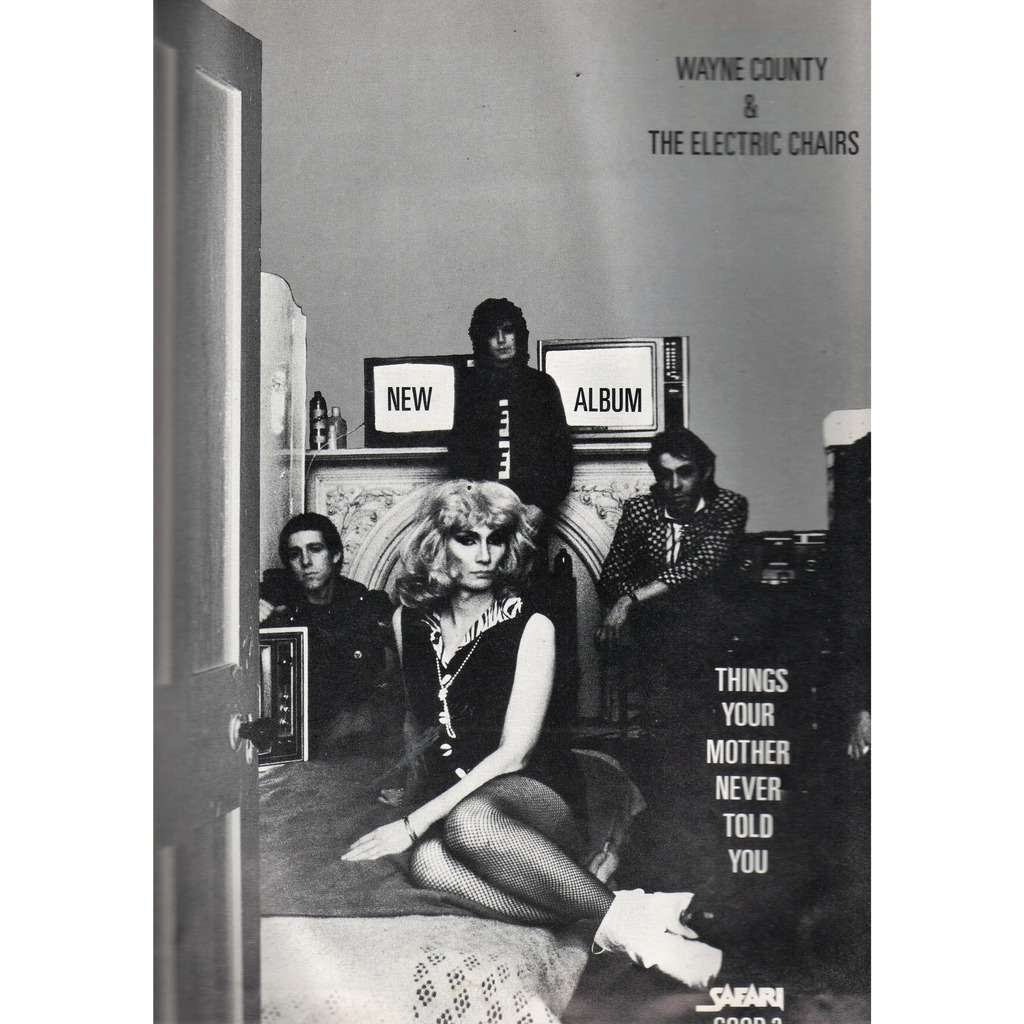 Wayne County & Electric Chairs Things Your Mother Never Told You (UK 1979 promo type advert 'album release' poster flyer!)
