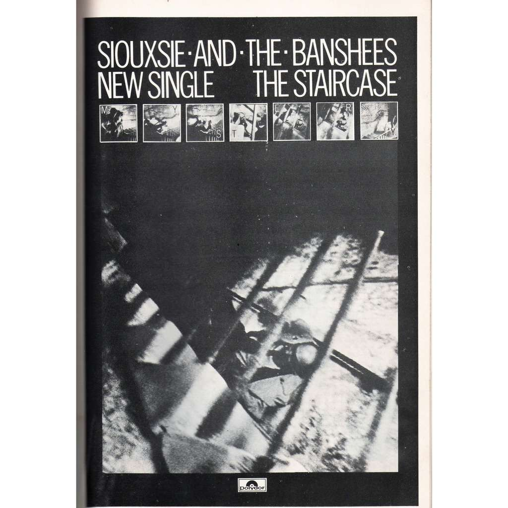 Siouxsie & the Banshees Staircase (UK 1979 promo type advert 'single release' poster flyer!)