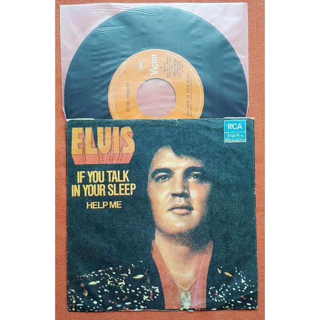 elvis presley 1 orange label 45 yugoslavia 1975 IF YOU TALK IN YOUR SLEEP / HELP ME