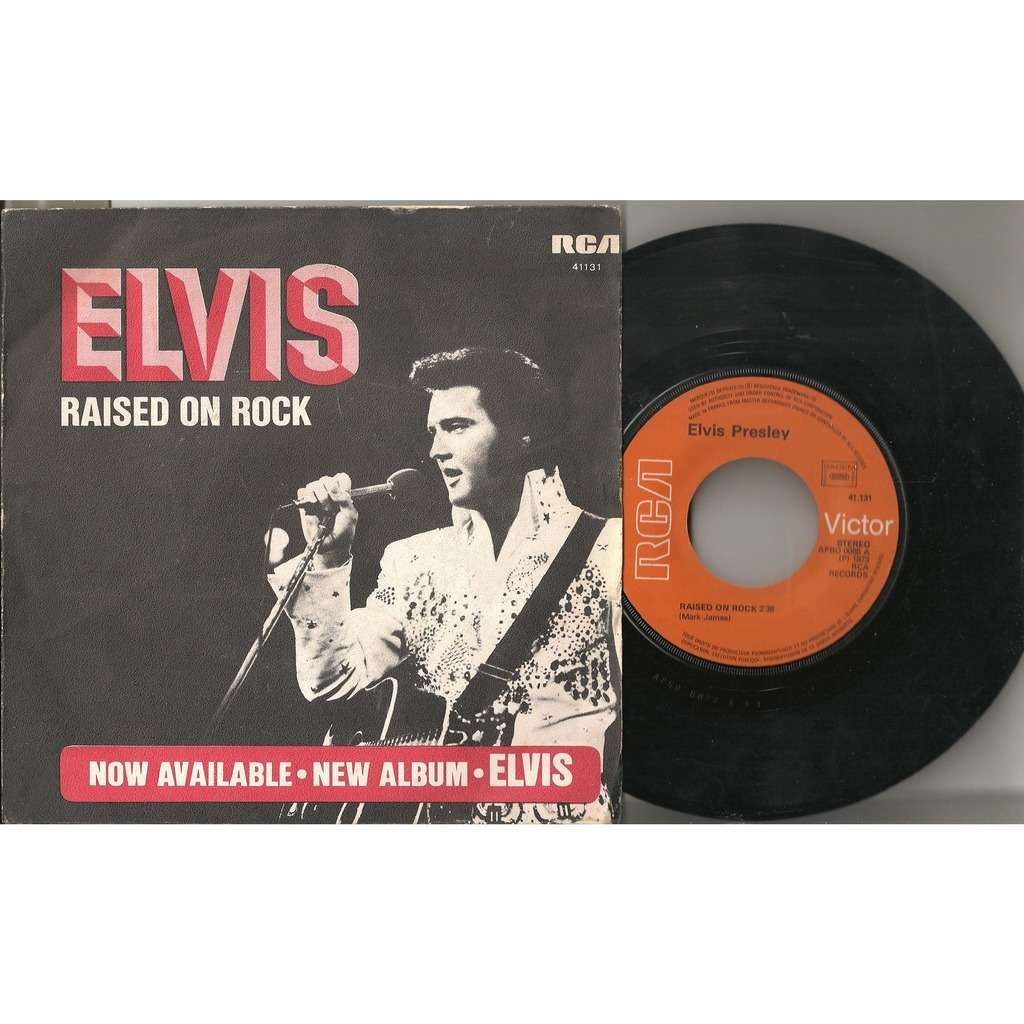 elvis presley 1 orange label 45 france 1973 raised on rock RCA 41131