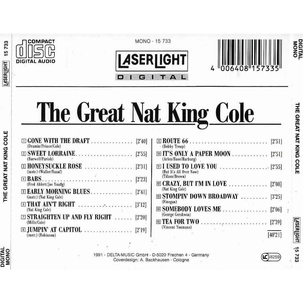 Nat King Cole The Great Nat King Cole - The Jazz Collector Edition