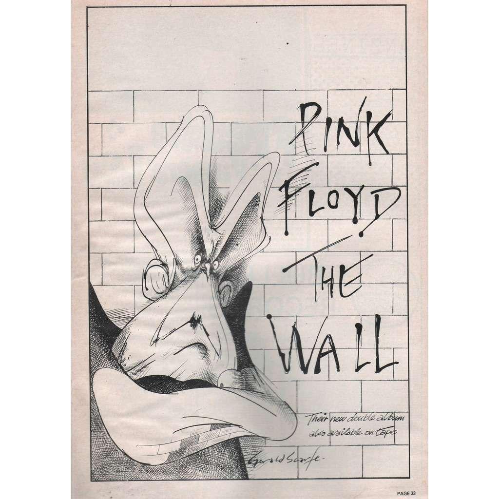 Pink Floyd The Wall (UK 1980 EMI promo type advert 'album release' poster flyer!!)