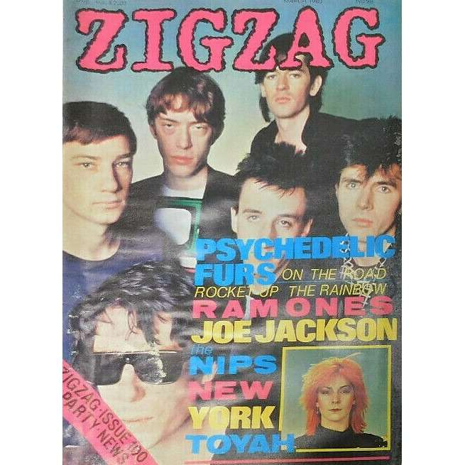 Psychedelic Furs Zig Zag (N.99 March 1980) (UK 1980 Psychedelic Furs front cover music magazine!!)