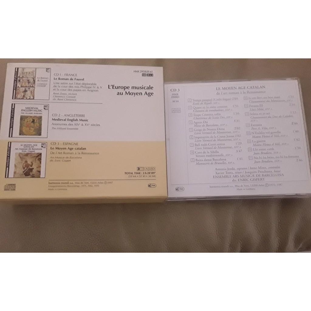 Consort - Zosso - Hilliard Ens - Musicae Barcelona Europe Musicale Au Moyen Age -- Roman de Fauvel - Médiéval English Music - Le Moyen Age Catalan