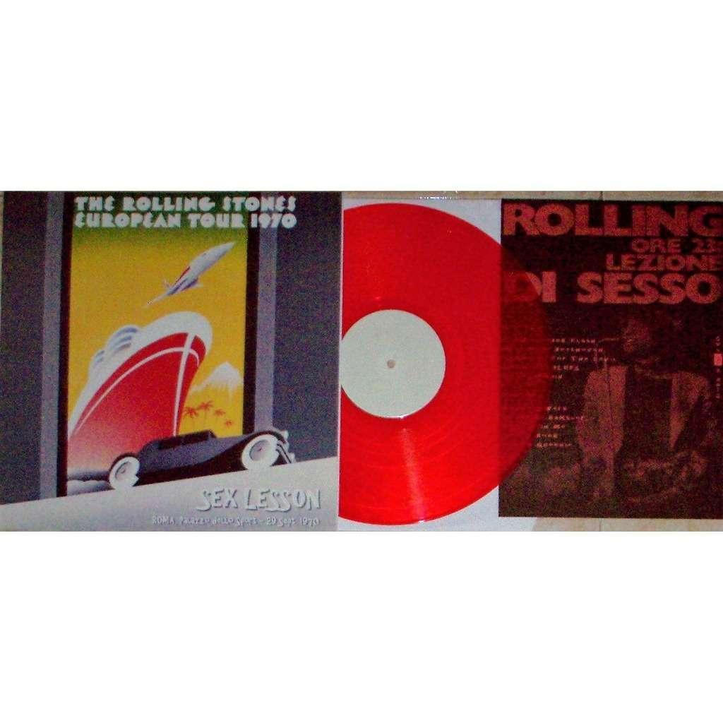 The Rolling Stones Sex Lesson (Roma Palazzo Dello Sport 29.09.1970) (Ltd 80 no'd copies LP RED wax + insert!!)