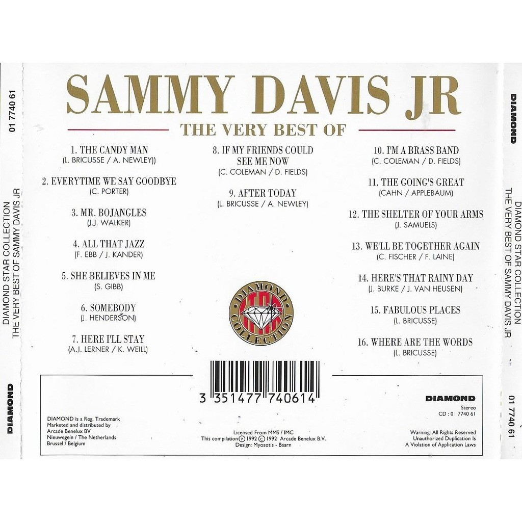 Sammy Davis Jr. The Very Best Of Sammy Davis Jr. - Diamond Star Collection