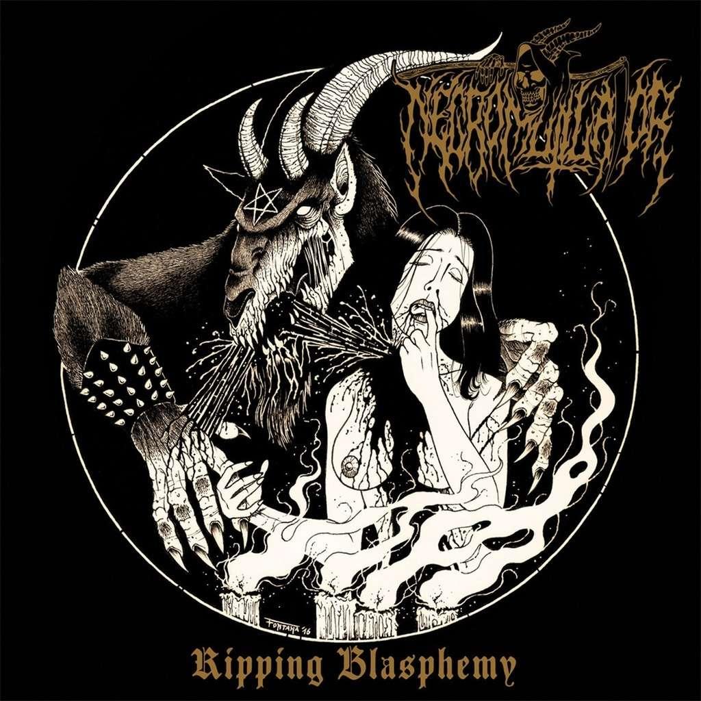 NECROMUTILATOR Ripping Blasphemy. Black Vinyl