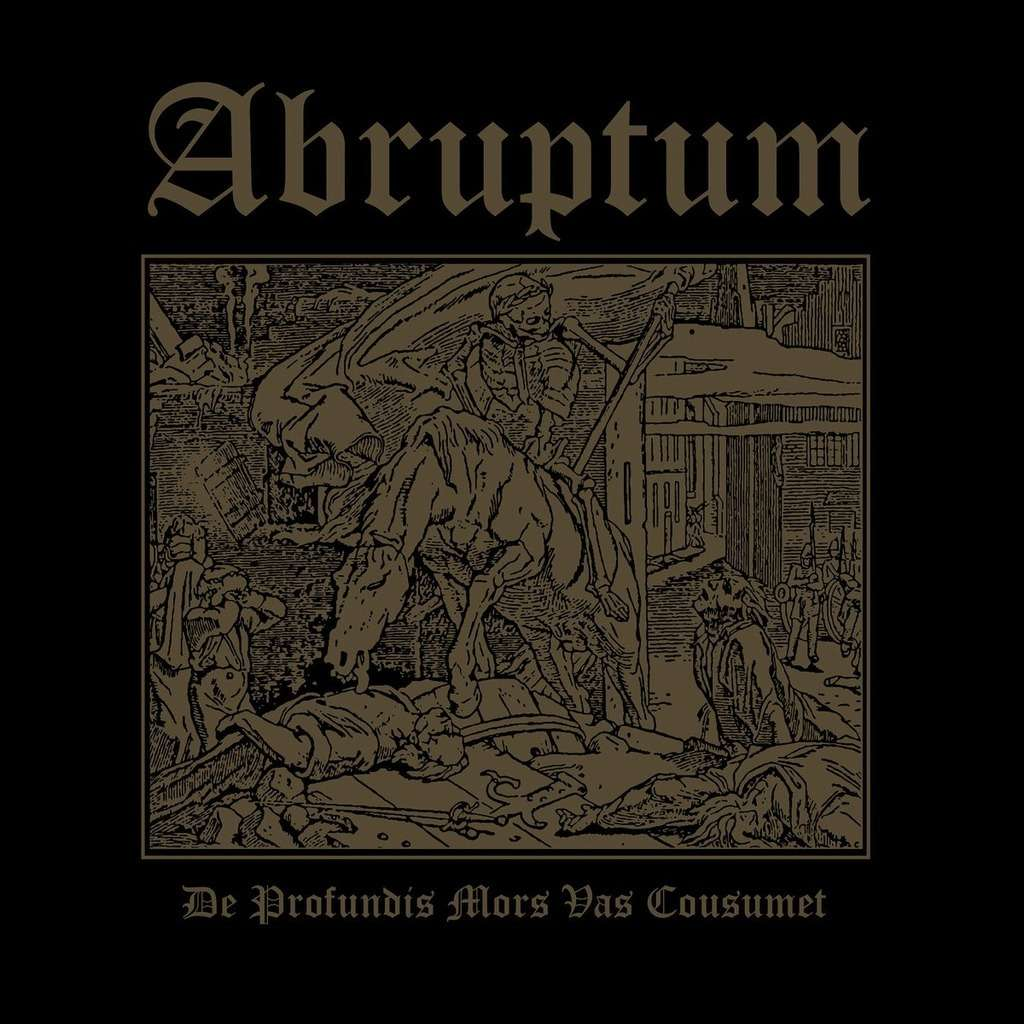 ABRUPTUM De Profundis Mors Vas Cousumet. Black Vinyl