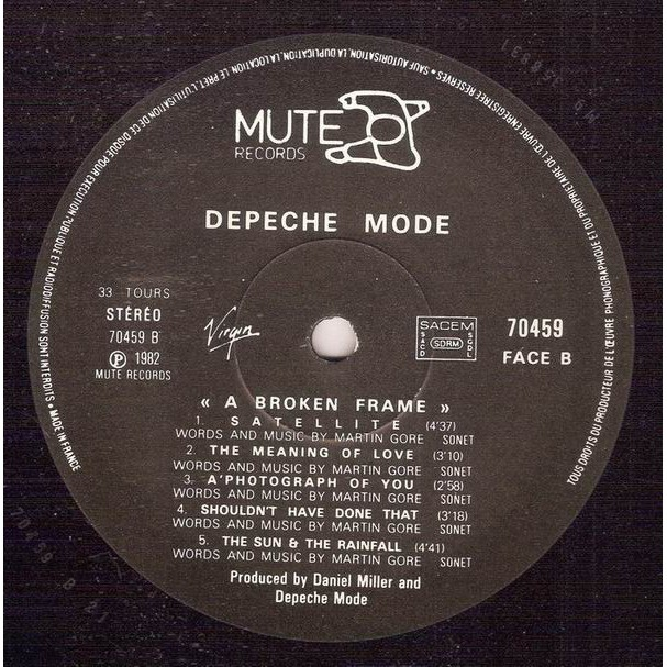 DEPECHE MODE A broken frame (French press - 1982 - Perfect conditions)