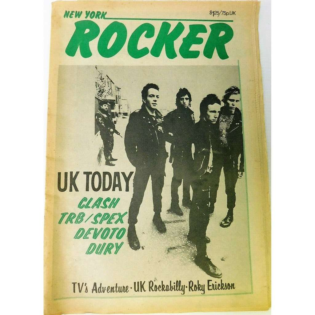 the Clash New York Rocker (Vol.1 N.12 April - May 1978) (USA 1978 Clash front cover magazine!!)