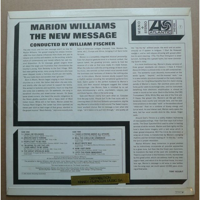 Marion Williams ‎ The New Message