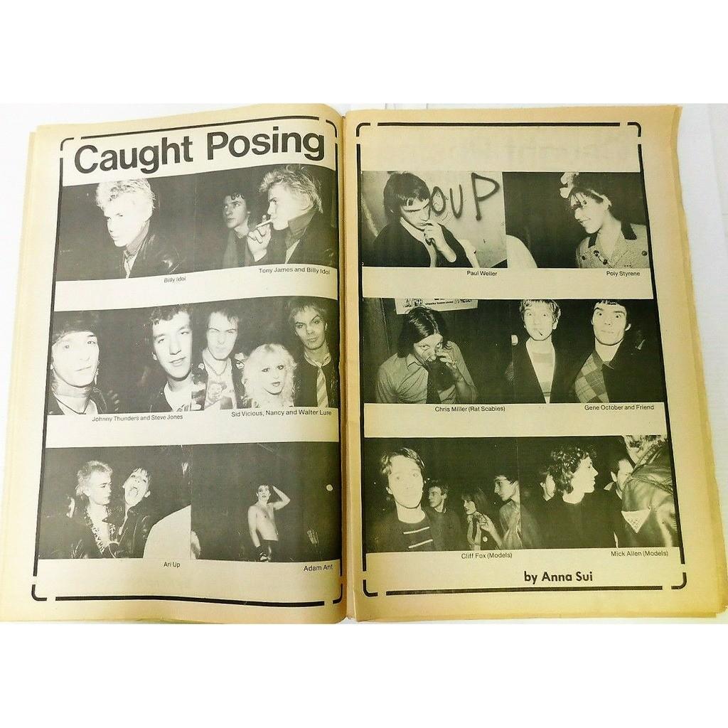 Sex Pistols / Johnny Thunders / Billy Idol New York Rocker (Vol.1 N.12 April - May 1978) (USA 1978 punk music magazine!!)