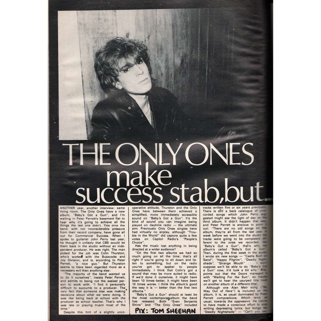 The Only Ones Zig Zag (N.100 April 1980) (UK 1980 music magazine!)