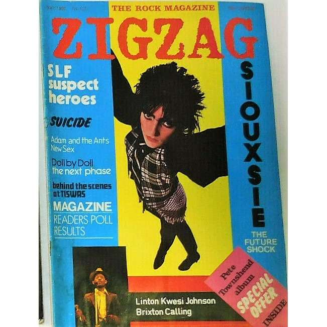 Siouxsie & The Banshees Zig Zag (N.101 May 1980) (UK 1980 Siouxsie front cover music magazine!!)