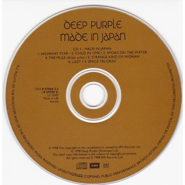DEEP PURPLE Made in Japan - the remastered edition