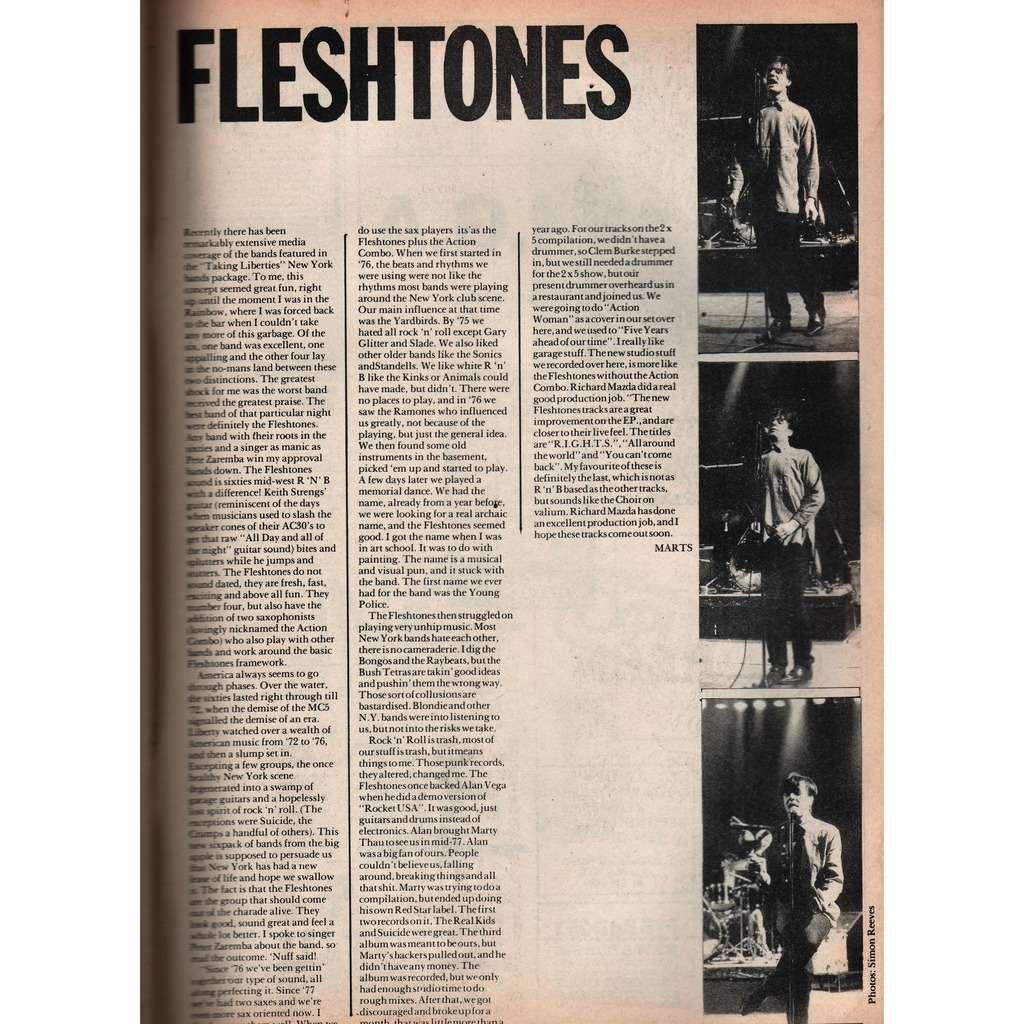 Fleshtones: Zig Zag (N.112 April 1981) (UK 1981 music magazine!)